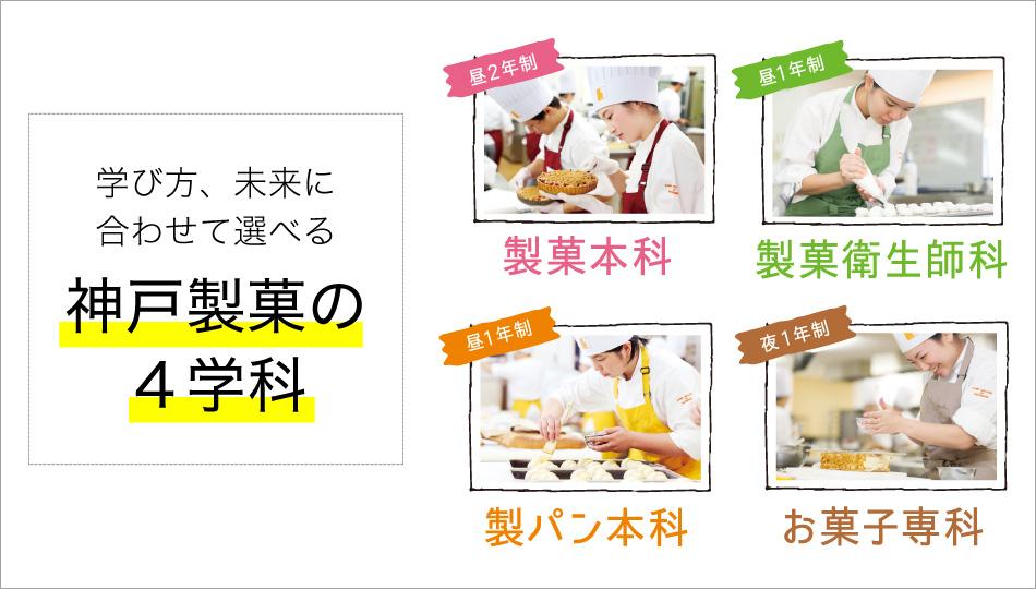 神戸製菓の4つの学科